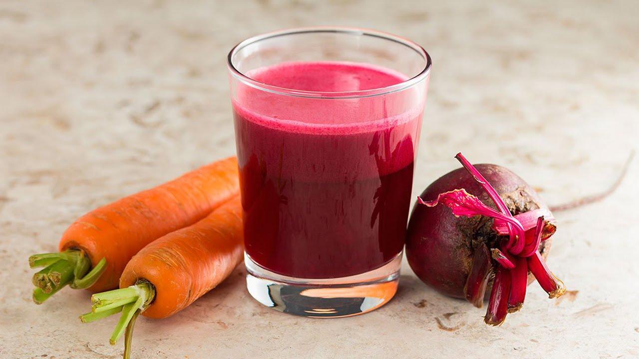 Tratamientos naturales para la gastritis en el embarazo - Jugo de Zanahoria con Remolacha